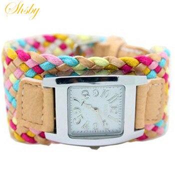 shsby Bohemia multi-colored weaving female watch quartz women dress ladies fashion gift bracelet wholesale