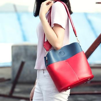 New Fashion Luxury Lady Panelled Leather Handbags Women Bag Designer Brand Shoulder Bag Lady Female Satchel Bags High Quality Shoulder Bags