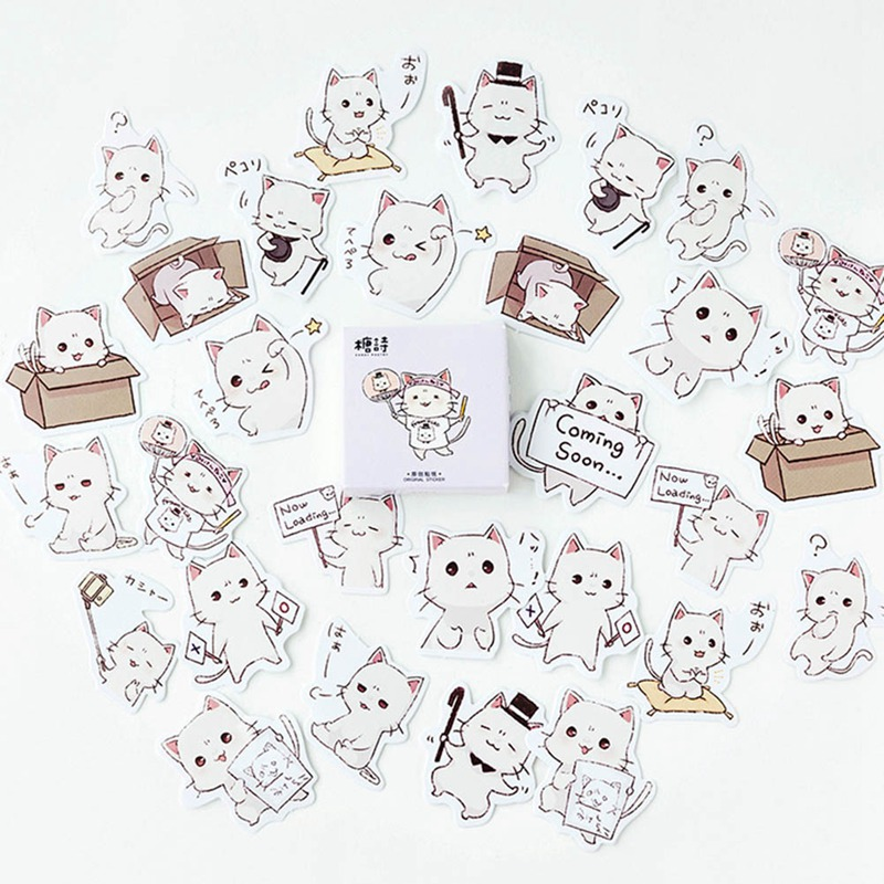 Able Lovely Small Guinea Pig Decorative Stickers Scrapbooking Stick Label Diary Stationery Album Stickers