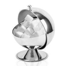 Saim 304 Stainles Steel Sugar Bowl Jar Kitchen Seasoning Bottle Flip Cup Spherical Spice Tank Cans Salt Pot