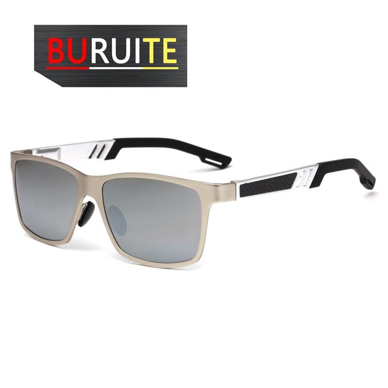 Analytisch Mburuite Männer Polarisierte Sonnenbrille Aluminium Magnesium Sonnenbrille Fahren Gläser Rechteck Shades Für Männer Verlobungsringe