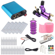 Besta Tattoo Kit Purple Dragonfly Rotary Tattoo Machine Shader & Liner With Tattoo Needle bandage and Disposable Tattoo цена и фото
