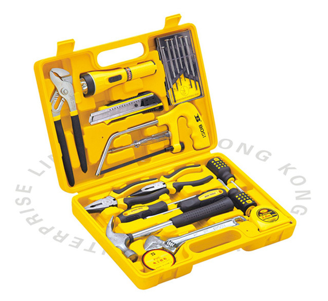 Free Shipping BOSI 21PC Homeowner Tool Sets New Hand Tools free shipping bosi hsc8 6 4 awg 23 10 ratchet crimping casing plier terminals crimper bosi hand tool