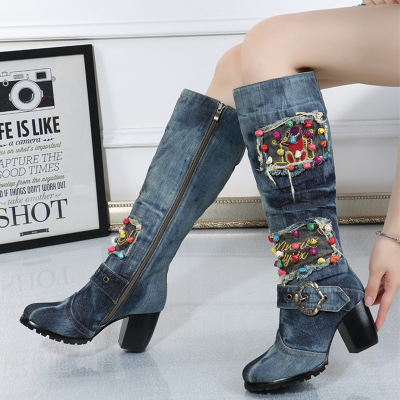 Knee High Cowboy Boots for Women Promotion-Shop for Promotional ...