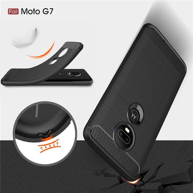 Para Poder Fibra De Carbono Resistente TPU Capa Para Moto Motorola G7 E4 E6 G5 G5S G6 Plus Z2 Z3 Z4 jogar P40 P30 Caso Nota E5 Jogar go