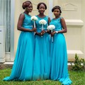 Dubai Kaftan Turquoise Bridesmaid Dresses 2016 Sexy Appliqued Sash With Beading Long Bridesmaid Gowns Maid Of Honor ZHP293
