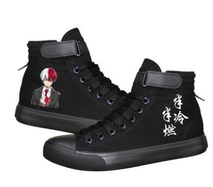 High-Q Unisex Anime Cos My Hero Academia Shoes Todoroki Shoto Bakugou Katsuki Casual plimsolls canvas shoes rope soled shoes