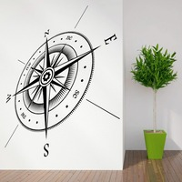 COMPASS North South East West Points Vinyl Wall Sticker Decal Home Decoration Wall Paper Art Viny