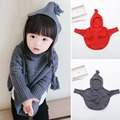 Hot-selling autumn girls boys child hooded knitted sweaters baby cute cape cotton kids thread cloaks children's clothing sweater