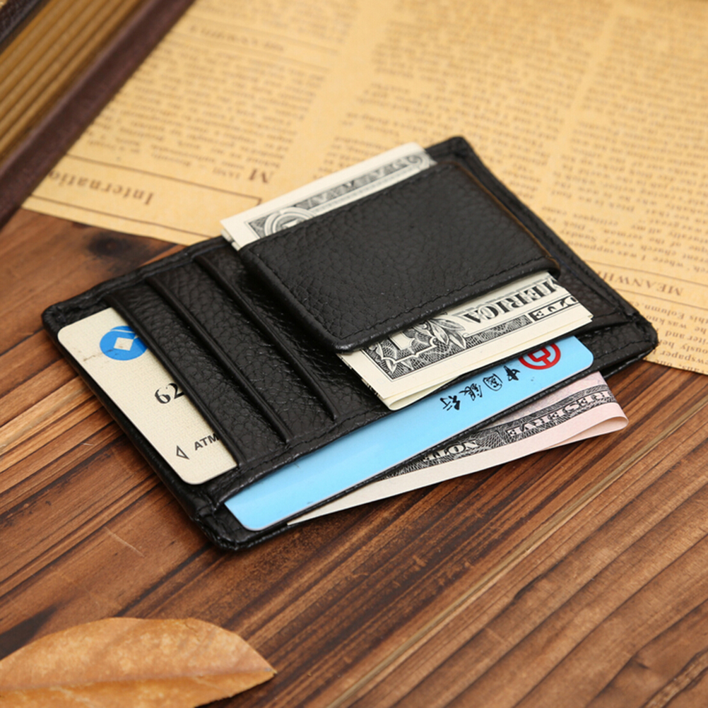 1PC Men's Genuine Leather Money Clip Famous Money Clip Wallet for Cash Fashion Designer Wallet for Cards and Money