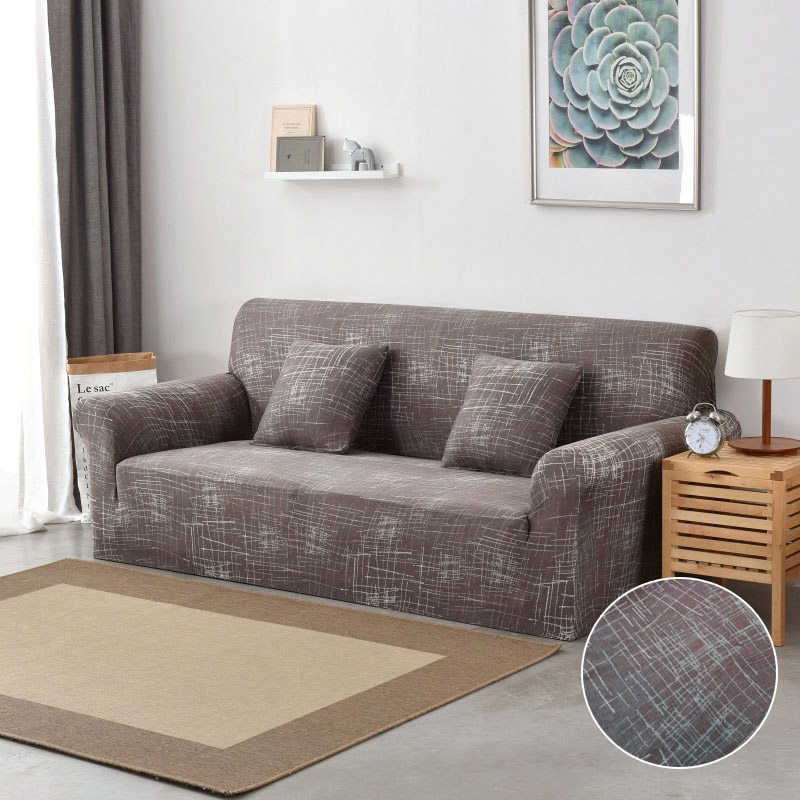 Floral Printing and Wrinkle Free Sofa Cover with Elastic Bands and Straps for Living Room Corner Sofa 3