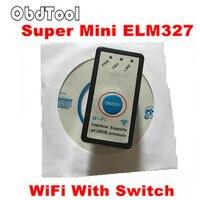 ObdTooL 2018 MINI ELM327 WIFI ON/OFF Anahtarı V1.5 ELM327 WIFI OBD2/OBDII ELM 327 CAN-BUS Teşhis Aracı IOS Android için LR15