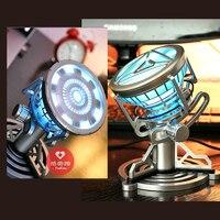 איש ברזל לב חיקוי של מתכתי ארק כור אור כחול עם RC ומטען דמויות צעצוע לילדים מתנה