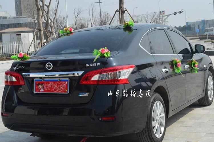 2017 Nueva Seda Artificial Rose Flowers Wedding Car Decoration Set - Para fiestas y celebraciones - foto 6