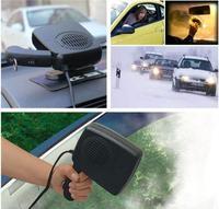 Portable y práctico calentador desempañador coche 12 v auto calentador de ventilador calefacción calentador descongelador en un calentador de ventilador eléctrico