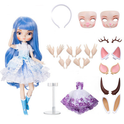 DIY Movable Refittable 35cm 1/6 <font><b>Bjd</b></font> <font><b>Sd</b></font> Bbgirl Doll Toys kids Joints Dolls Girl Dolls Toys Birthday Gifts for Child Children image