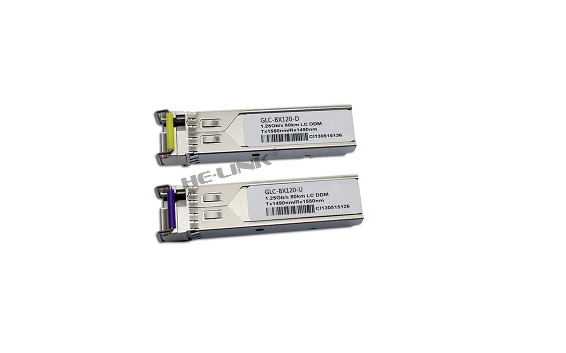 LODFIBER GLC-BX120-U/GLC-BX120-D CISCO Compatible 1.25G 1490/1550nm BiDi 120km Transceiver  - buy with discount