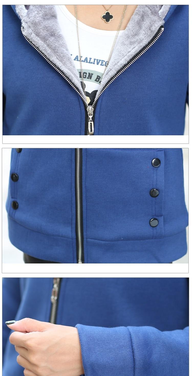 HTB1M3EhaoLrK1Rjy0Fjq6zYXFXaK Women Fashion Autumn Winter Thicken Sports Cotton Coat ladies Solid Hooded Warm Jacket Outerwear female padded parka overcoat