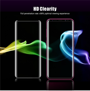 Image 5 - Vothoon Tempered Glass For Samsung Galaxy S8 S9 Plus Note 8 Note 9 Full Screen glue 6D curved edge uv Screen Protector Glass