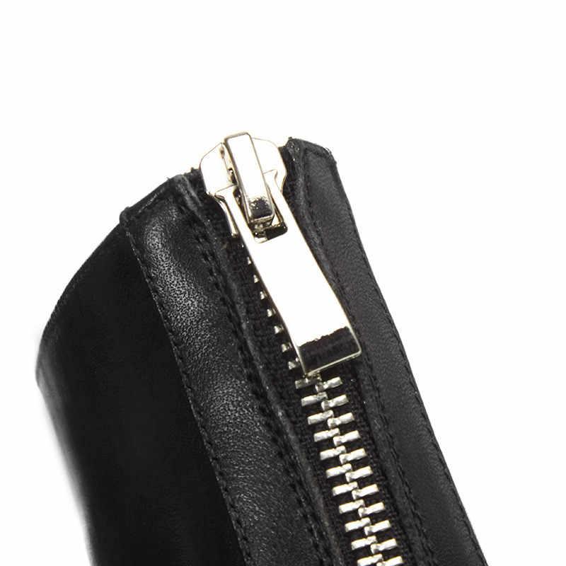 MORAZORA 2020 en kaliteli tam hakiki deri ayakkabı kadın yarım çizmeler zip kare topuklu Chelsea çizmeler moda elbise ayakkabı kadın