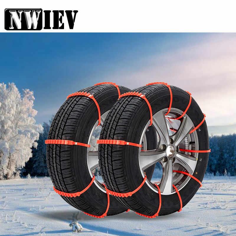 NWIEV 10 ピース冬アンチスリップスノーチェーン Bmw X5 E53 F30 F10 E46 E39 E90 E60 F20 メルセデス w205 W204 W211 アウディ A5 A6 C5 C6 A4