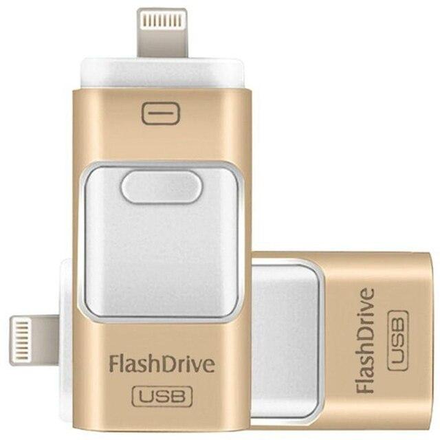 Для iPhone 6 6 s Plus 5 5S ipad Pen drive памяти HD stick Двойного назначения мобильный OTG USB Flash Drive 16 ГБ 32 ГБ 64 ГБ 128 ГБ PENDRIVE