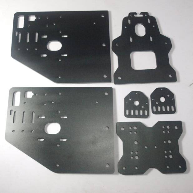 OX CNC части машины черный цвет оси X Передняя + Y Gantry + ось X + двигатель + Резьбовая пластина 6 мм для DIY 3D
