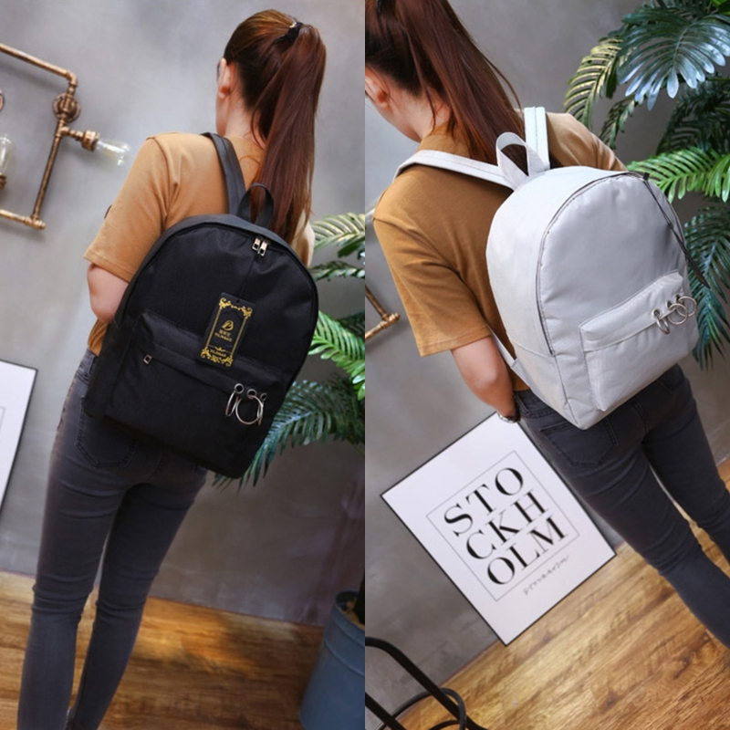 Classic Women Canvas Backpack 107A Girls School Student Backpacks