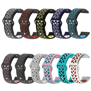20mm Watch Band for Samsung Galaxy Watch Active 2 40mm 44mm Soft Sport Leaves Style Silicone Replacement for Galaxy Watch 42mm