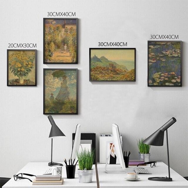 pictures versierd slaapkamers goedkope kleine foto de poster muur claude monet waterlelies en agapanthus