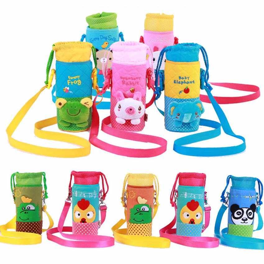 Baby 3D Cartoon Animal Bag Milk Water Bottle Termos Handle Bag Pouch Insulation Keep Warm Thermos Bag Baby Kids Feeder Lagging