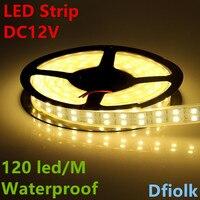 קלטת חבל רצועת אור LED 5050 צינור סיליקון עמיד למים ip68 שורה כפולה 600led 5 m RGB dc12V 3000 K warmwhite 6500 k לבן ribbo