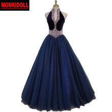 BONJEAN Vintage Beaded Ball Gown Prom Dresses 2019