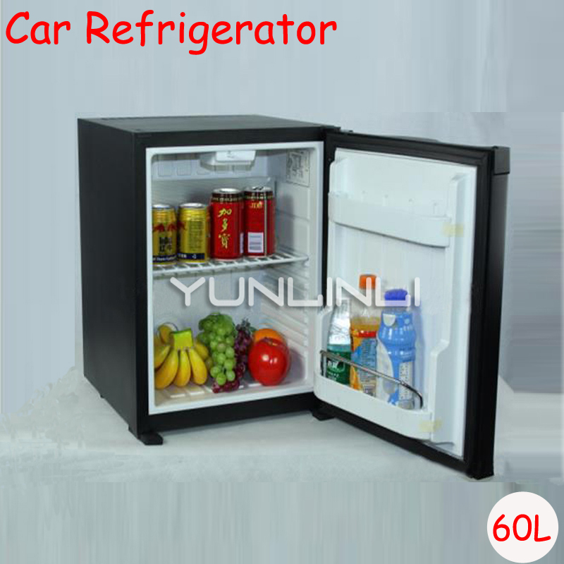 цена 60L Car Refrigerator Household Hotel Single Door Refrigerator For Wine Milk Food Portable Cold Storage Refrigerator