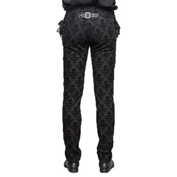Gothic Punk Victorian Mens Pants Black Steampunk Fitness Casual Male Trousers Slimming Fitted Feet Pants Large Sizes S-XXXL 4