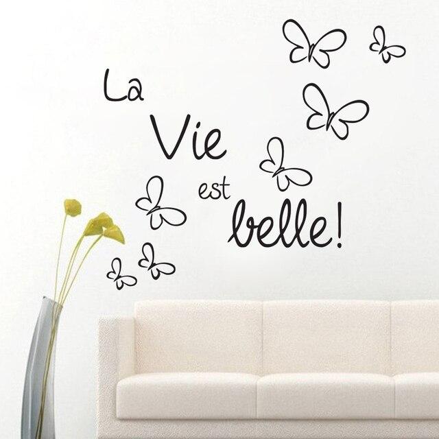 Das Leben Ist Schön Französisch Sprüche Wandaufkleber Schöne