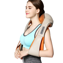 Home Car Shiatsu U Shape Cervical Neck Shoulder 16 Rollers Massager Shawl Pain Relief Body Relaxing Back Massage Health Care yl 60201 practical useful car home 2 in 1 brain relaxing massage pillow for improving neck shoulder ache top quality