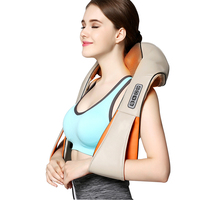Shiatsu U Shape Cervical Neck Shoulder Knocking 16 Heads Massager Shawl Pain Relief Body Relaxing Knock Back Massage Health Care