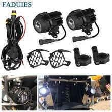 FADUIES 40 Вт Светодиодный вспомогательный фонарь супер яркий противотуманный светильник для вождения с защитой охранников жгут проводов для Мотоцикла BMW K1600