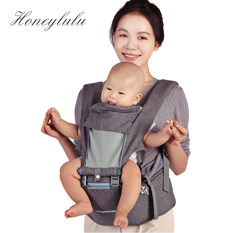 Honeylulu Breathable Fashion 3 in 1 Baby Carrier Multifunctional Ergoryukzak Sling For Newborns Kangaroo For Baby Hipsit Wrap in Backpacks Carriers from Mother Kids