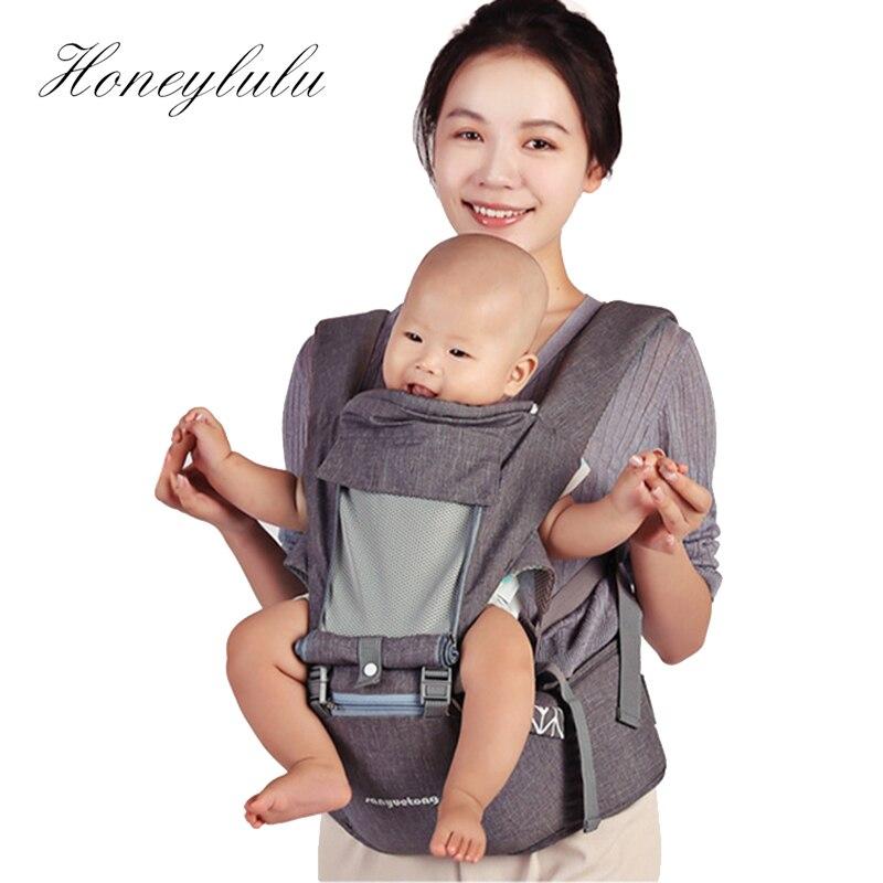 Honeylulu Breathable Fashion 3 In 1 Baby Carrier Multifunctional Ergoryukzak Sling For Newborns Kangaroo For Baby Hipsit Wrap