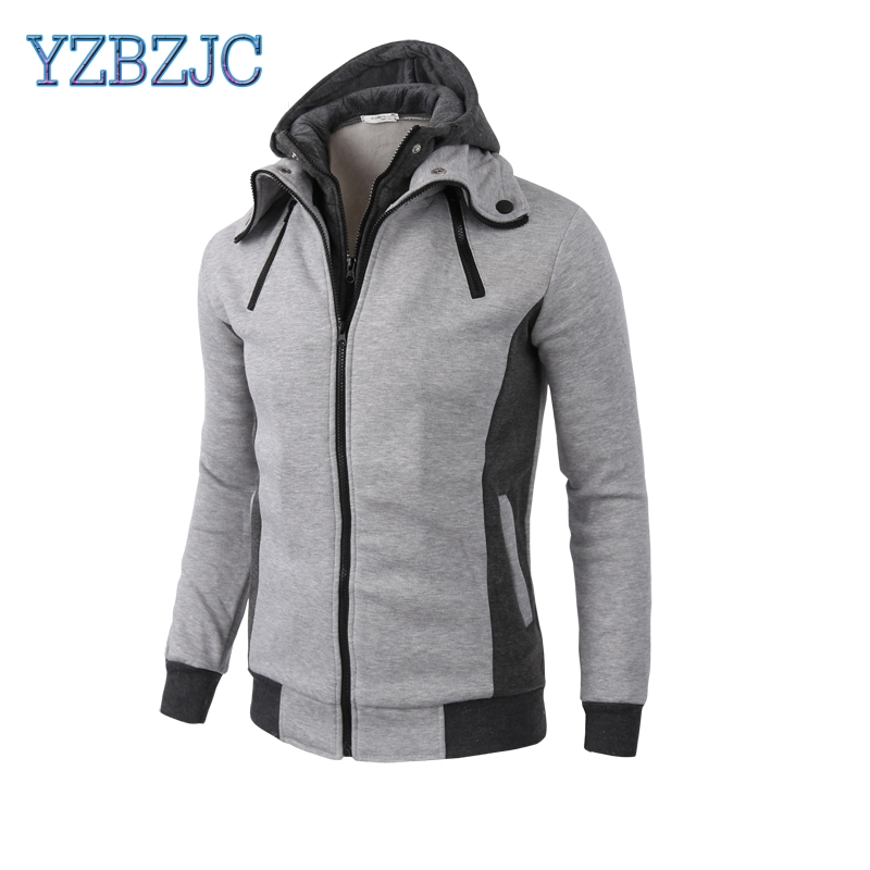 2018 Spring Autumn New men clothing Sports Cardigan hoodies Casual Men's clothes Slim Sweatshirts Jacket