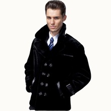 Erkekler Ceket Yaka Kürk