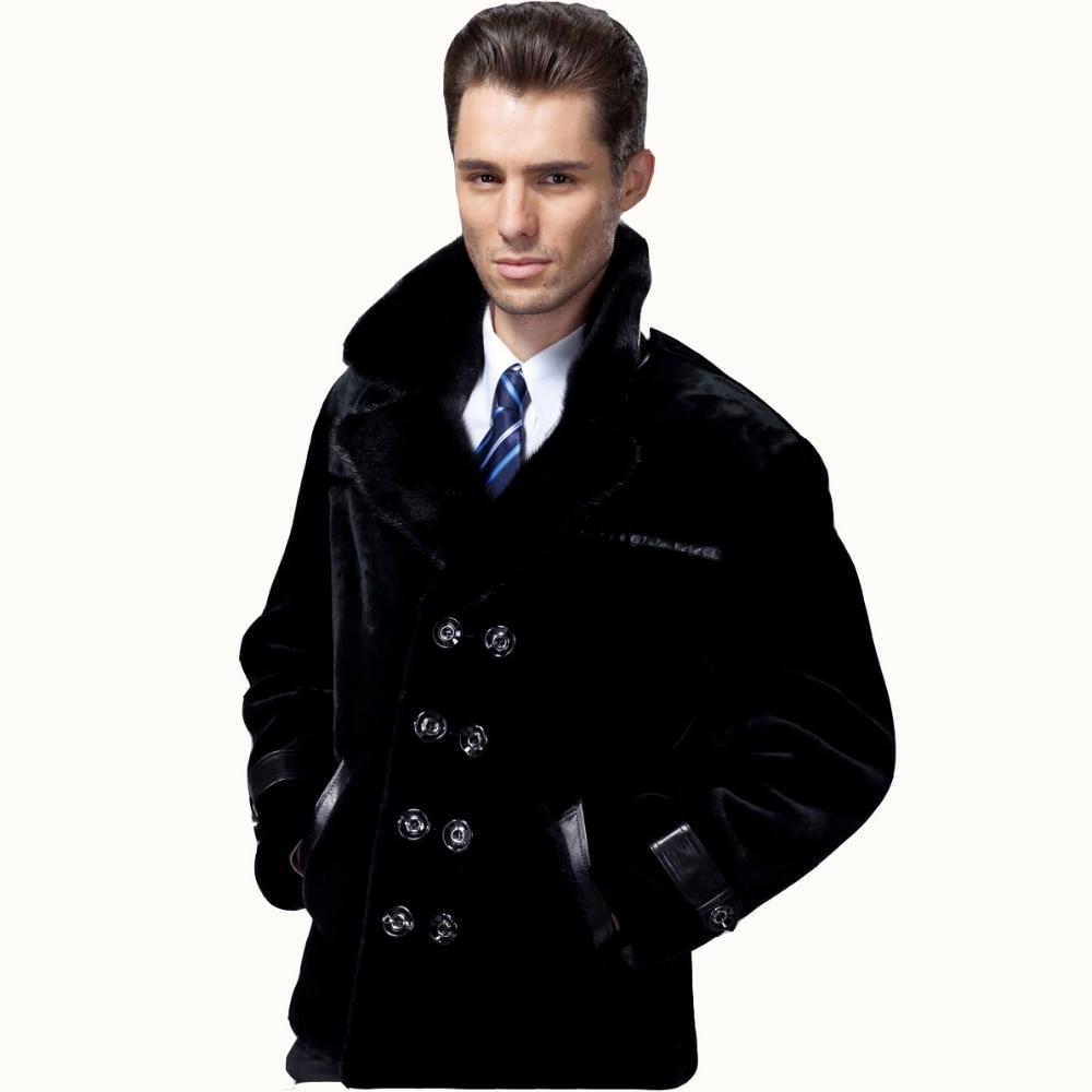 2017 Guaranteed Sheepskin Fur Coat font b Men b font Genuine 3 Styles Mink font b
