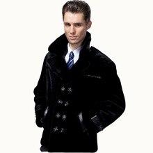 2018 Guaranteed Sheepskin Fur Coat Men Genuine 3 Styles Mink Suit Collar Natural Fur Clothing Black