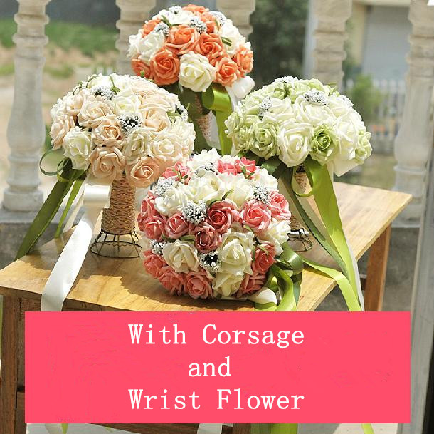 Korean Wedding Flowers: Free Shipping, Korean Style Silk Artificial Bride Hands