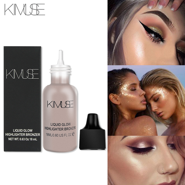 KIMUSE Liquid Хайлайтер с переливом Bronzer Make Up хайлайтер счетчик хайлайтер корректор макияж База освещающая