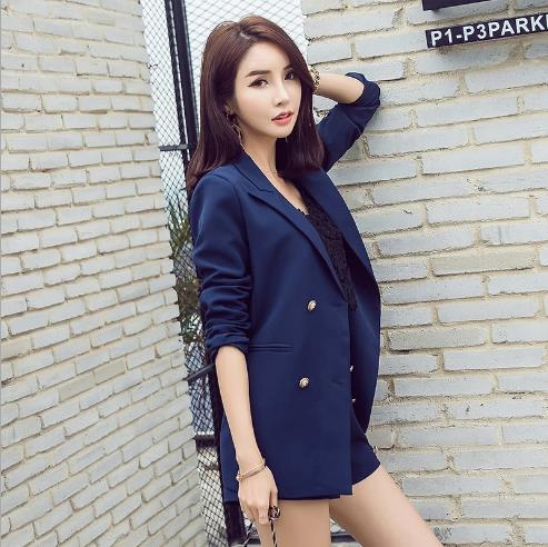 High 2 Solid Trouser Office Lady Set Mini Piece Elegant Rq216 Pant Notched Blazer Suit Fashion Waist Vintage Jacket Women nOXBw4zq