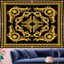 Court style retro Deconstruction panther Tapestry personality crown Yoga Mat Tapestries goblen Retro flower Wall Hanging decor