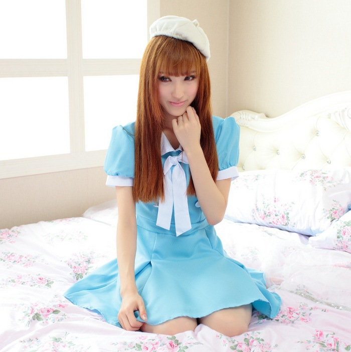 Hot Sexy Hospital Nurse Costumes Dress Sexy Japanese School Girl Anime Dresses Costume For Halloween Cosplay Costumes With Hat-In Kids Costumes -4941